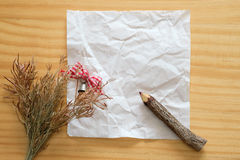 White crumpled paper Royalty Free Stock Images