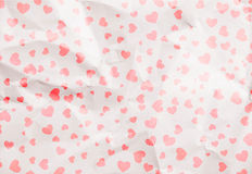 White crumpled paper with red heart Royalty Free Stock Photography