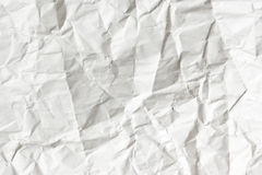 White crumpled paper texture Royalty Free Stock Image