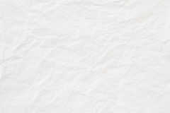 White crumpled paper texture or background Stock Images