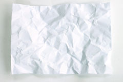 White crumpled paper texture. White crumpled paper texture on white background Royalty Free Stock Photo