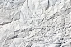 White Crumpled Paper texture royalty free stock photography
