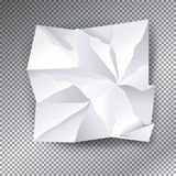 White Crumpled paper vector Royalty Free Stock Images