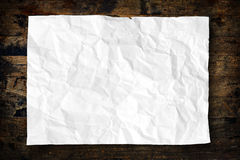 White Crumpled paper Stock Image