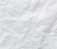 White crumpled tissue paper background texture. Close up white crumpled tissue paper background texture Stock Images