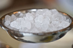 White crystalline lump sweet sugar closeup Royalty Free Stock Photography
