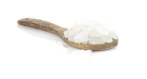 White crystalline sugar on white Stock Images