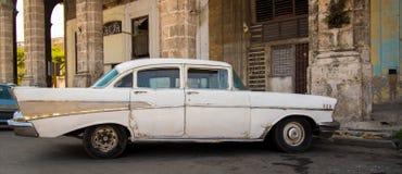 White Cuban car Stock Photography
