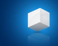 White cube Royalty Free Stock Image