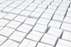 White cube boxes. Stock Image