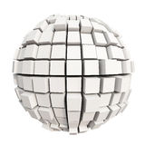 White cube sphere Royalty Free Illustration