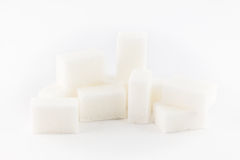 White cube sugar Royalty Free Stock Image