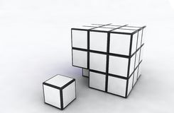 White cubes Royalty Free Stock Image