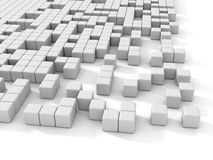 White cubes abstract 3d background Royalty Free Stock Image
