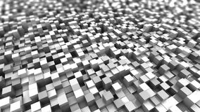 White cubes background. Abstract 3d illustration of white cubes background Royalty Free Stock Photo