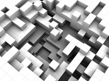 White cubes background. Abstract 3d illustratioon of white cubes background Royalty Free Stock Images
