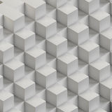 White cubes background Stock Images