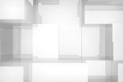 White cubes background Stock Photography