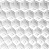 White Cubes Background. Abstract Futuristic Design. Creative Engineering Concept Stock Photography