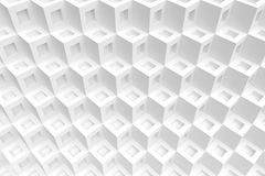 White Cubes Background. 3d Illustration of White Cubes Background. Abstract Futuristic Design Stock Photos