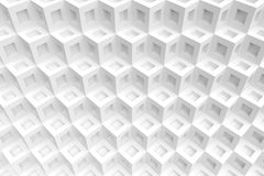 White Cubes Background. 3d Illustration of White Cubes Background. Abstract Futuristic Design Royalty Free Stock Photos