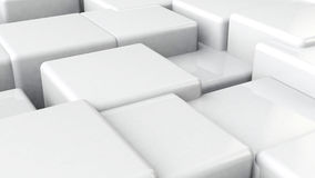 White cubes background. Royalty Free Stock Photography