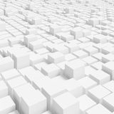White Cubes Background. 3d Rendering of White Cubes Background. Abstract Futuristic Architecture Design stock illustration