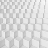 White Cubes Background. 3d Rendering of White Cubes Background. Abstract Futuristic Grid Design stock illustration