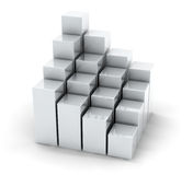 White cubes Royalty Free Stock Images