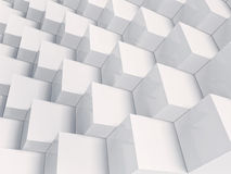 White cubes Background, reflection cubes Stock Photo