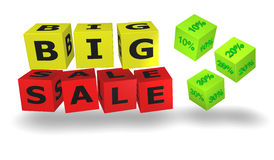 White cubes with big sales words Stock Photography