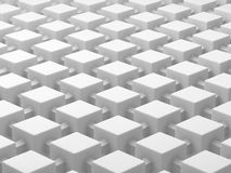 White cubes connected by links. Connected cubes network concept background. 3D illustration. White cubes connected by links. Connected cubes network concept. 3D Stock Images