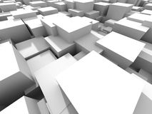 White Cubes Construstion Abstract Background Stock Photos