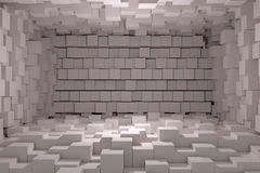 White cubes. 3d rendering of a background with a lot of white cubes Stock Photo