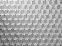 White Cubes pattern, 3d render illustration vector illustration