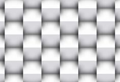 White cubes. Powerful background 3d with visual effect of the shadows.Picture representing purity and solided order Stock Photos