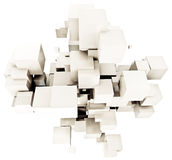 White cubic background. 3D rendering of a cubic background in shades of white Stock Images