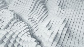 White cubic blocks abstract 3D rendering. White cubic blocks. Abstract 3D rendering with DOF vector illustration