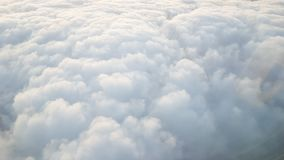 Cumulonimbus cloud on the high altitude. White Cumulonimbus cloud on the high altitude , view from air plane Royalty Free Stock Photos