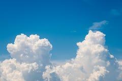 White Cumulonimbus Clouds On Blue Sky Royalty Free Stock Photo