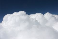 White Cumulus. From the sky Royalty Free Stock Images