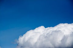 White cumulus cloud in the blue sky Royalty Free Stock Image