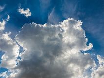 white cumulus cloud covered the sun Royalty Free Stock Images