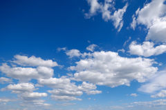 White cumulus clouds Stock Images