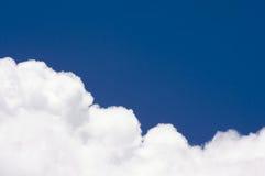White Cumulus Clouds. Off the coast of Kauai, Hawaii stock photo