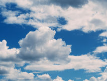 White cumulus clouds Stock Photography