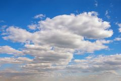 White Cumulus clouds in blue sky Royalty Free Stock Photo