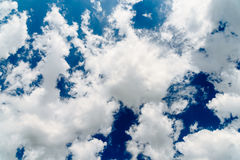 White Cumulus Clouds On Blue Sky Stock Photos
