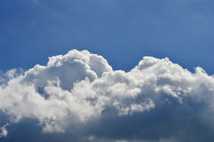 White Cumulus Clouds in Blue Sky Royalty Free Stock Photos