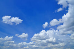 White Cumulus Clouds In The Sky Stock Images
